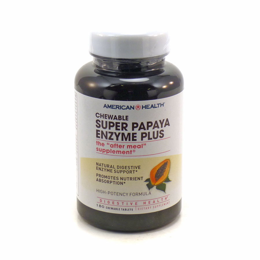 Super Papaya Enzyme Plus by America Health 180 Tablets