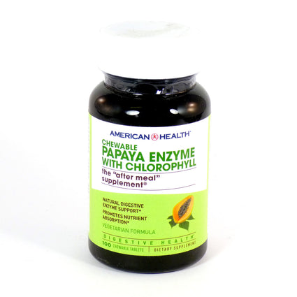 Papaya Enzyme with Chlorophyll by American Health - 100 Tablets