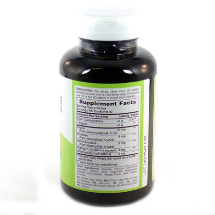 Papaya Enzyme with Chlorophyll by American Health 250 Tablets