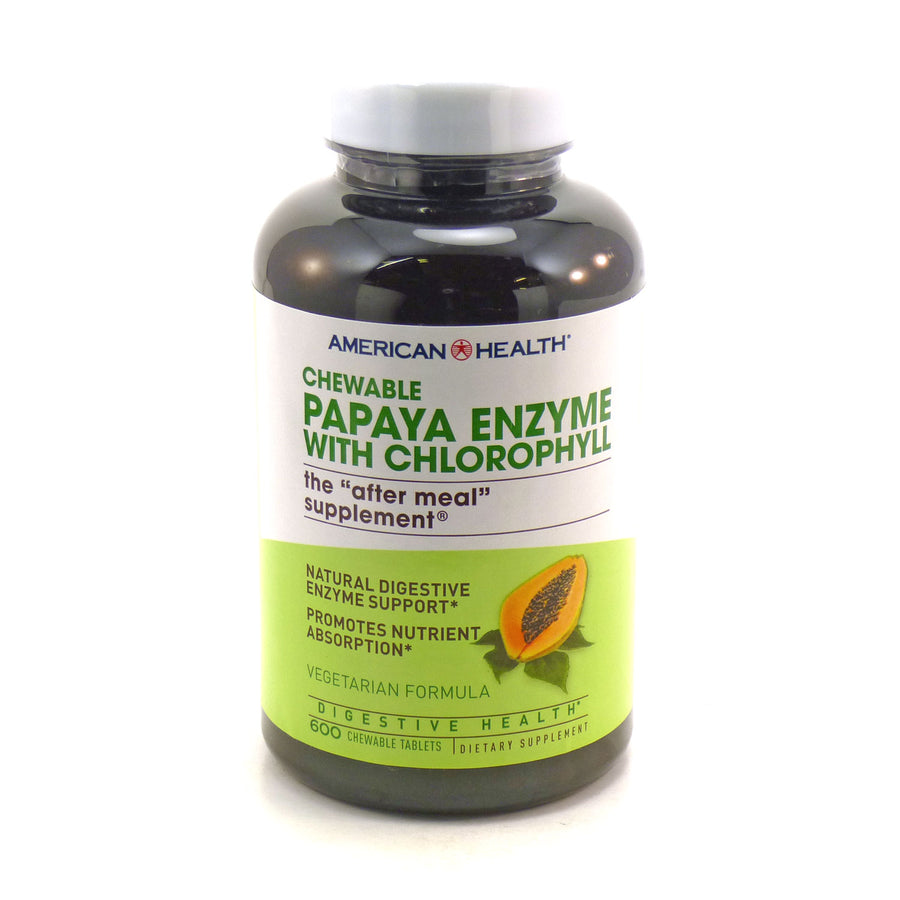 Papa Enzyme With Chlorophyll By American Health - 600 Chewables