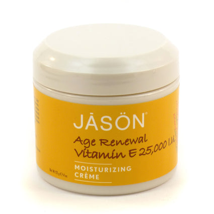 25000 IU Vitamin E Age Renewal Moisturizing Cream by Jason 4 Ounces