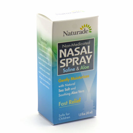 Nasal Spray Saline and Aloe By Naturade - 1.5 Ounces