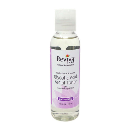 Glycolic Acid Facial Toner By Reviva Labs - 4 Ounces