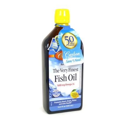 Carlson The Very Finest Fish Oil - Lemon  16.9 fl oz