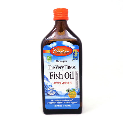Carlson Very Finest Fish Oil Orange  - 16.9 Ounces