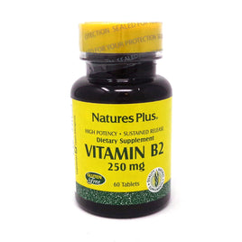 Vitamin B-2 250 mg Sustained Release by Nature's Plus - 60 Tablets