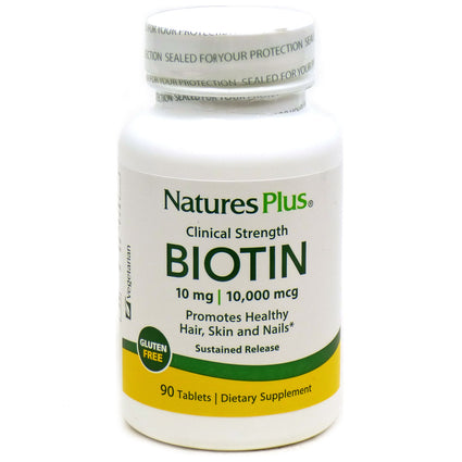 Biotin 10mg By Nature's Plus - 90 Tablets