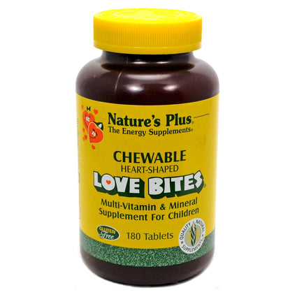 Love Bites Children's Multi-Vitamin & Mineral by Nature's Plus 180 Chewable Tabs