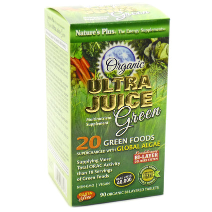 Ultra Juice Green By Nature's Plus - 90 Tablets