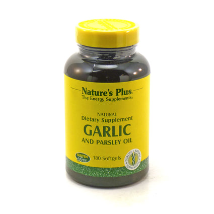 Garlic and Parsley Oil By Nature's Plus - 180 Softgels