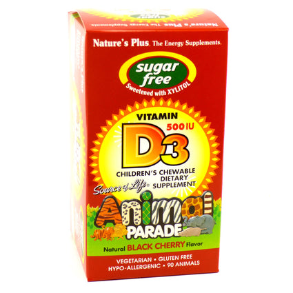 Animal Parade Vitamin D3 500iu By Nature's Plus - 90 Chewables