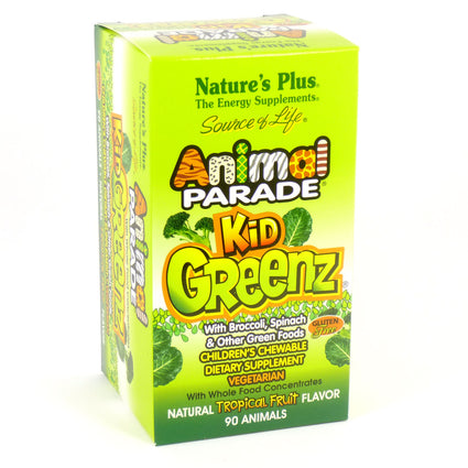 Animal Parade Kid Greenz by Nature's Plus (250 mg)- 90 Tablets