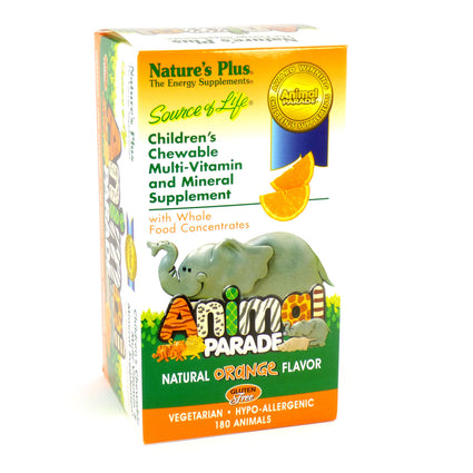Source of Life Animal Parade Chewables - Orange by Nature's Plus 180 Tablets