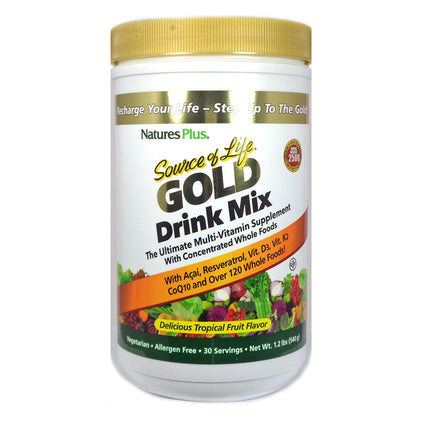 Nature's Plus Source Of Life Gold Drink Mix Tropical Fruit - 30 Servings