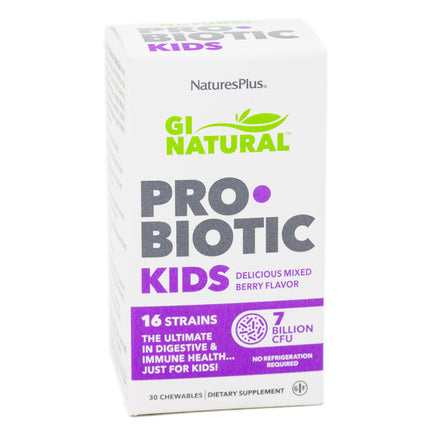 Natures Plus Probiotic Kids - 30 Chewables