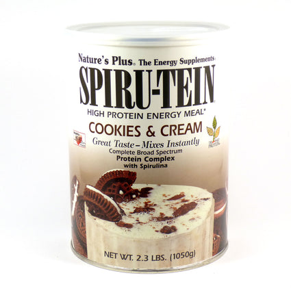 Cookies and Cream SPIRU-TEIN Shake by Nature's Plus 2.3 Pounds SPIRUTEIN