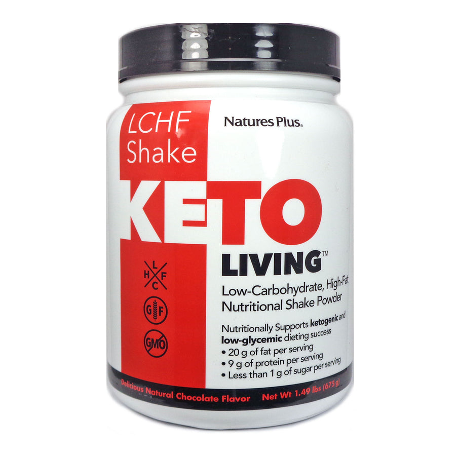 Keto Living Shake Chocolate By Nature's Plus - 15 Servings