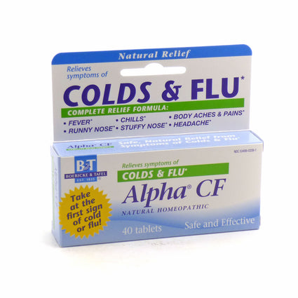Alpha CF Cods and Flu By Boericke and Tagel - 40 Tablets