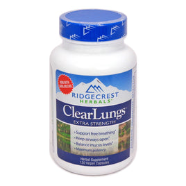 ClearLungs Extra Strength - 120 Vegan Capsules by Ridgecrest Herbals
