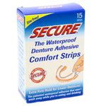 Deture Adhesive Strips by Dentek Secure - 15 Strips
