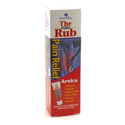 Arnica Rub 4 oz By NatraBio - 4 oz