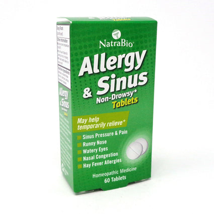 Allergy and Sinus Relief By Natra Bio - 60 Tablets