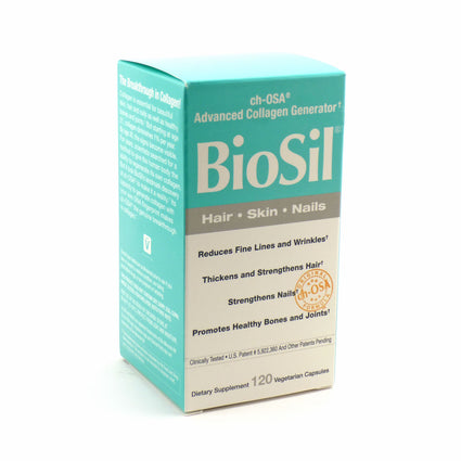 Biosil Hair Skin Nails By Natural Factors - 120 Veg Capsules