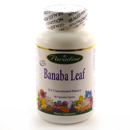 Banaba Leaf By Paradise Herbs - 180 Vegetarian Capsules