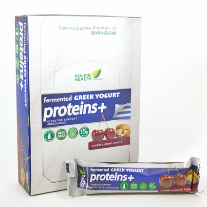 Proteins Plus Cherry Almond Vanilla  by Genuine Health - 12 Bars