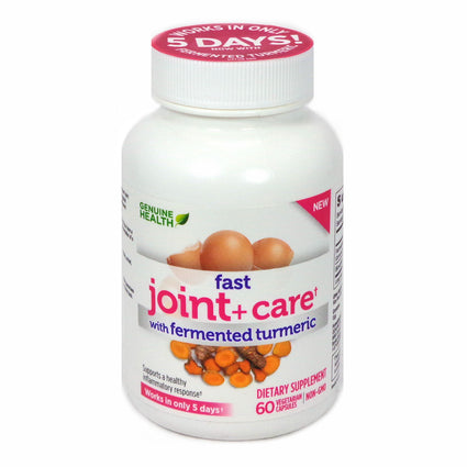 Genuine Health Fast Joint + Care with Fermented Turmeric - 60 Capsules