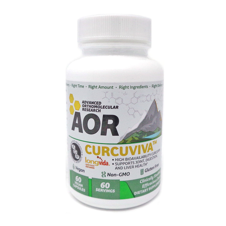 Advanced Orthomolecular Research AOR CurcuViva Curcumin 80 mg 60 Veggie Caps