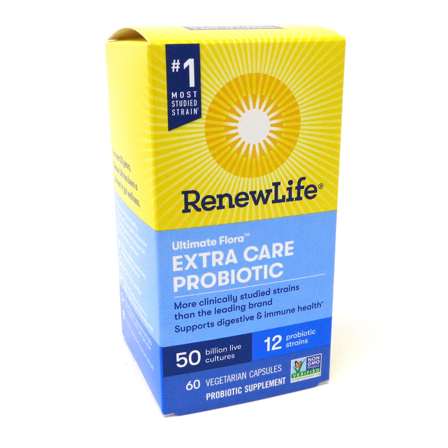Renew Life Ultimate Flora Extra Care Probiotic 50 Billion - 60 Vegerarian Capsules