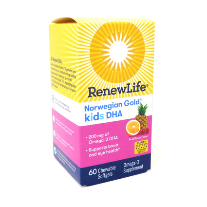 Renew Life Kids DHA   - 60 Chewables