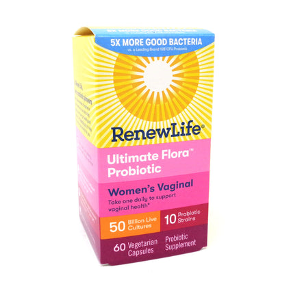 Renew Life Ultimate Flora 50 Billion Vaginal Support - 60 Vegetable Capsules