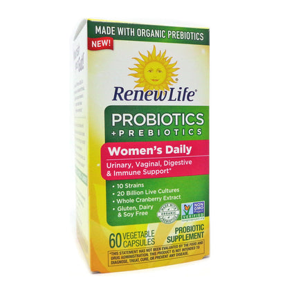 Renew Life Woman's Daily Probiotics plus Prebiotics - 60 Capsules