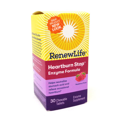 Renew Life Heartburn Stop  - 30 Tablets