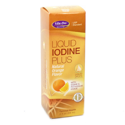 Liquid Iodine Plus Orange by Life Flo - 2 Fluid Ounces