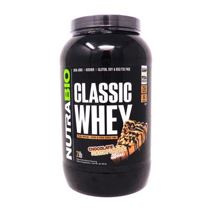 NutraBio- Classic Whey Chocolate Peanut Butter Bliss 2 pounds