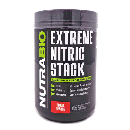 NutraBio Extreme Nitric Stack Blood Orange - 30 Servings