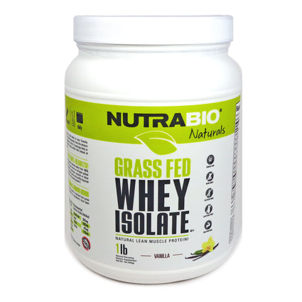 Grass Fed Whey Vanilla  by NutraBio - 1 Pound
