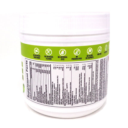 NutraBio Pre Workout Natural Green Apple - 20 Servings