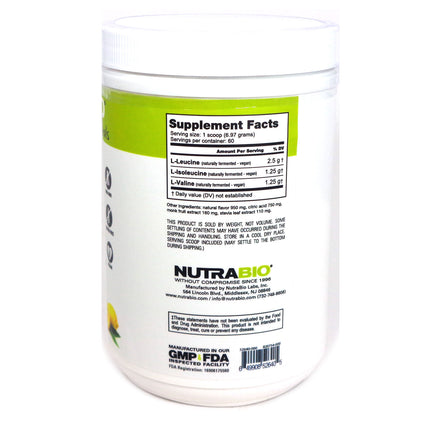 BCAA Natural lemonade  by NutraBio - 60 Servings