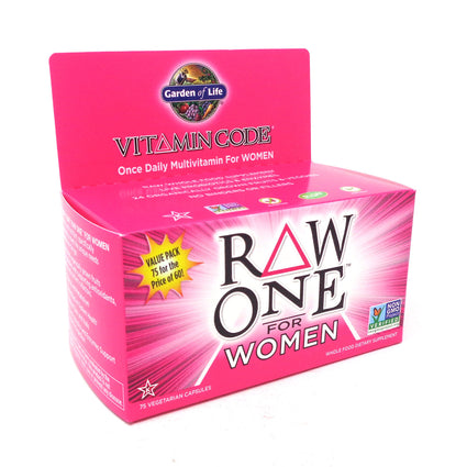 Raw One For Women Vitamin Code By Garden Of Life - 75 Vegan Capsules