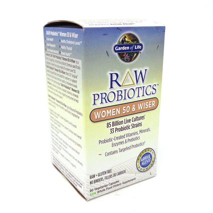 Raw Probiotics Women 50 Wiser By Garden Of Life - 90 Veg Capsules