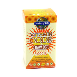 Vitamin Code Raw Vitamin D3 5000 IU By Garden Of Life - 60 Capsules