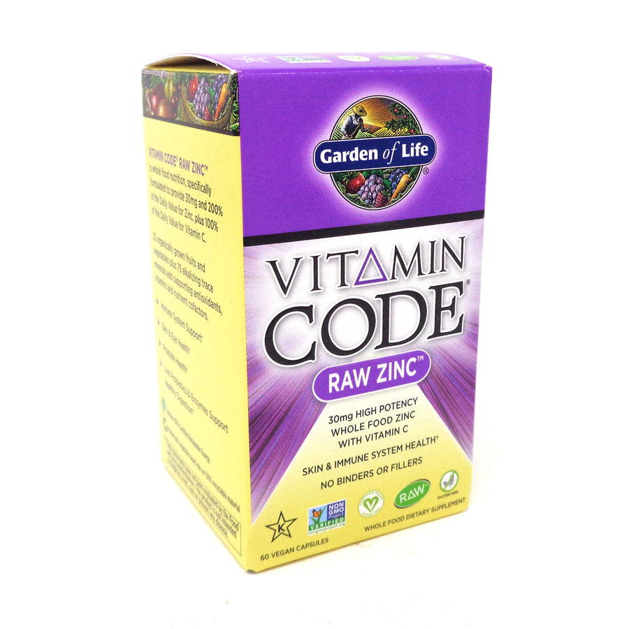 Raw Zinc Vitamin Code By Garden Of Life - 60 Capsules