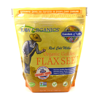 Organic Golden Flax Seed By Garden Of Life - 14 Ounces