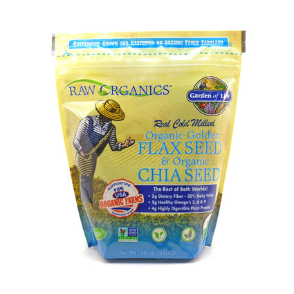 Organic Flax  Seed and Chia Seed  by  Garden Of Life - 12 Ounces