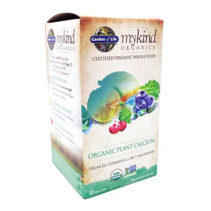 Kind Organic Plant Calcium By Garden Of Life - 180 Vegan Tablets