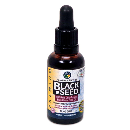 Premium Black Seed by Amazing Herbs - 1 Fluid Ounce